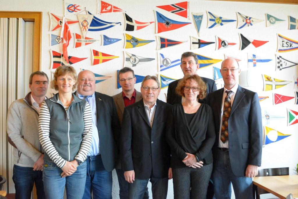 von links: Thomas Jatsch, Cornelia Dahm, Ullrich Stich, Thomas Bunte, Werner Schäper, Gerd Lauszus, Katja Oberlies, Frank Schläger