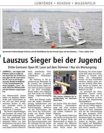 Ausriss Kreiszeitung vom 11.08.2015