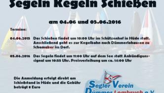 Infos zum Segel Kegeln Schießen auf der WG Website