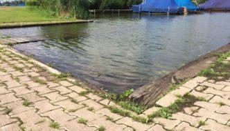 Slipanlage im SVH - inzwzischen auch schon komplett unter Wasser!