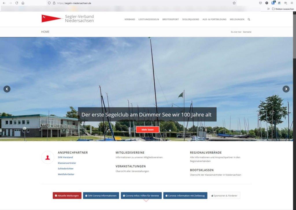 SVN Website - Titelseite